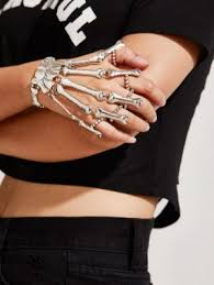 bracelet design with ring images Bracelets hand bone design bracelet with finger ring romwe jpg