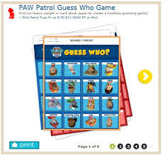 guess game 6 pages http www nickjr printables paw