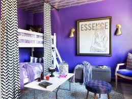 simple blue and purple bedroom color combo on a budget interior