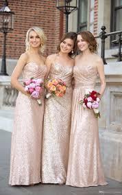 aliexpress com buy gold sequin bridesmaid dresses rose gold