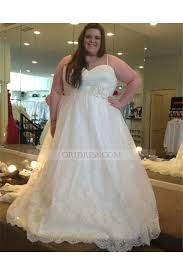 cheap plus size wedding dress tulle spaghetti straps chapel ivory sleeveless gown