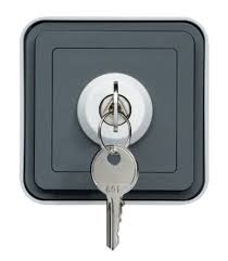 key operated light switch wnc035 hager grey 10 a wall mount key operated light switch