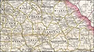 Georgia Counties Map Georgia Railroad 1883 Map