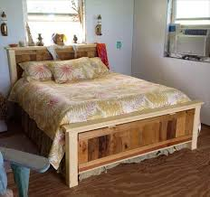 Headboard Made From Pallets Pallet Bed Frame And Headboard Diy Furniture Mommyessence Com