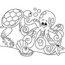 cute sea animals coloring pages getcoloringpages throughout sea