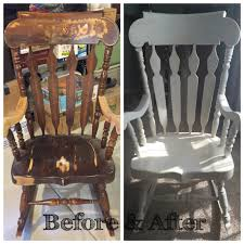 Rocking Chairs Like Cracker Barrel by Solid Wood Rocking Chair Restored Painted White With Chalk Paint