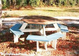 Free Large Octagon Picnic Table Plans by The 25 Best Octagon Picnic Table Ideas On Pinterest Picnic