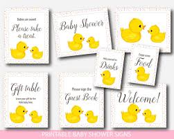 baby shower sign rubber ducky baby shower table signs yellow duck gift table signs