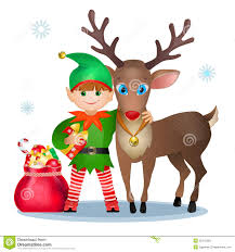 funny elf and reindeer royalty free stock images image 35472229