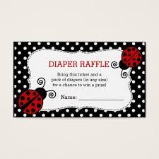 raffle baby shower ladybug baby shower raffle ticket zazzle