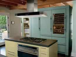 Kitchen Island With Oven Classy Blue Color Built In Wine Fridge With Blue Color Kitchen