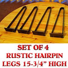 rustic flat iron hairpin legs 15 75 high coffee table tv