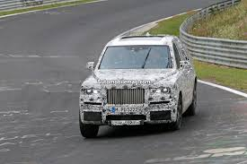 rolls royce truck rolls royce cullinan test mule spied on the nurburgring