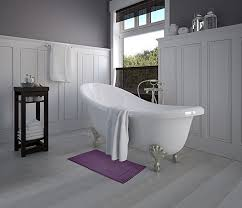 Gray Purple Bathroom - amazon com luxury cotton hotel spa tub shower bath mat floor mat