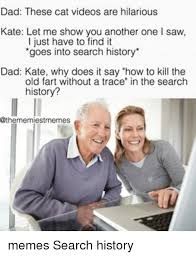 Search History Meme - dad these cat videos are hilarious kate let me show you another one