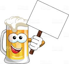 beer cartoon cartoon beer mug blank banner isolated stock vector art 644119422