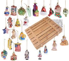 pacconi collection of24 blown glass ornaments w