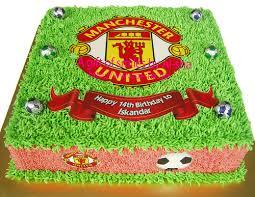 birthday cake edible image manchester united kek harijadi