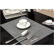 gray placemats set of 4 josette dove grey placemats at laura