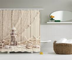 Best Fabric To Use For Curtains Bathroom Endearing Nautical Sea World Starfish Shell Shower