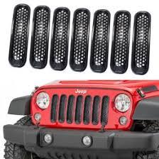 jeep wrangler front grill 2017 jeep wrangler jk front grille trim insert cover kit