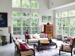 wall mounted tv living room decor furniture light blue sofa