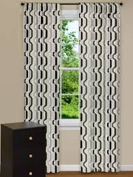 modern curtain panels with twisted desgin in black and grey