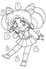chibi sailor moon coloring pages cartoon free download sailor