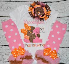 infant thanksgiving my first thanksgiving personalized embroidered baby girls ott