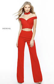 sherri hill jumpsuit sherri hill 51432 two the shoulder jumpsuit with