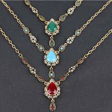 fashion necklace gold images Ethnic turkish style necklaces for women vintage gold color jpg