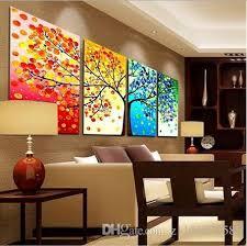 2017 2017 four seasons tree wall canvas painting art decoration