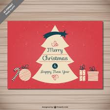 cmyk classic christmas card vector free download