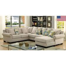Cer Sleeper Sofa Tess Modern Grey Sectional Sofa With Sleeper Sectional Basement