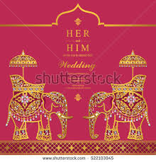india wedding card india wedding card stock vector 522103945