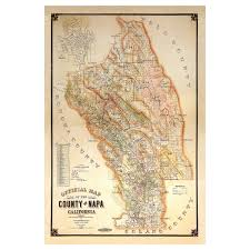 Map Of Napa Valley 1895 Vintage Napa Map Giclee Print On Canvas Wine Enthusiast