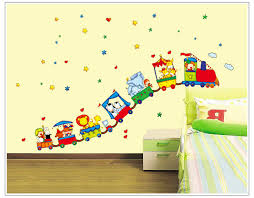 Urijk Animal Circus Train Children DIY Removable Wall Stickers - Animal wall stickers for kids rooms