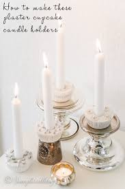 Shabby Chic Candle Sconces How To Make A Plaster Cupcake Candle Holder Songbird