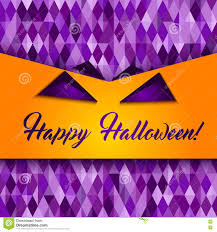 halloween colors background halloween patterned greeting card monster face stock illustration