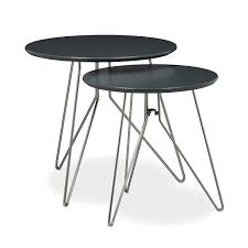 side table set of 2 relaxdays side table set of 2 wooden 48 and 40 cm diameters in 2