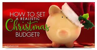 debt free christmas how to set a christmas budget
