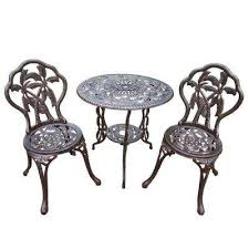 Black Bistro Table And Chairs Cast Iron Bistro Table Bistro Sets Patio Dining Furniture