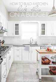 white kitchen cabinets tile floor budgeting tips for a kitchen renovation maison de pax