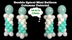 balloon columns spiral mini balloon columns tutorial