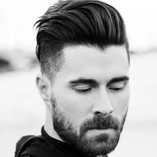medium length hairstyles thick hair for gentlemen outfit ideas