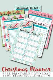 2015 christmas planner free printable download planners
