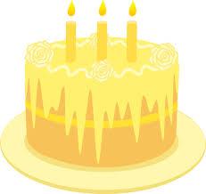 lemon birthday cake candles free clip art