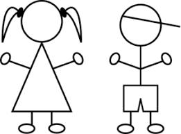 stick drawing kids clip art clker vector clip art