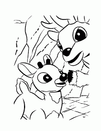 rudolph reindeer coloring page santa coloring home