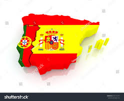 Map Of Spain And Portugal Map Spain Portugal 3d Stock Illustration 141215191 Shutterstock